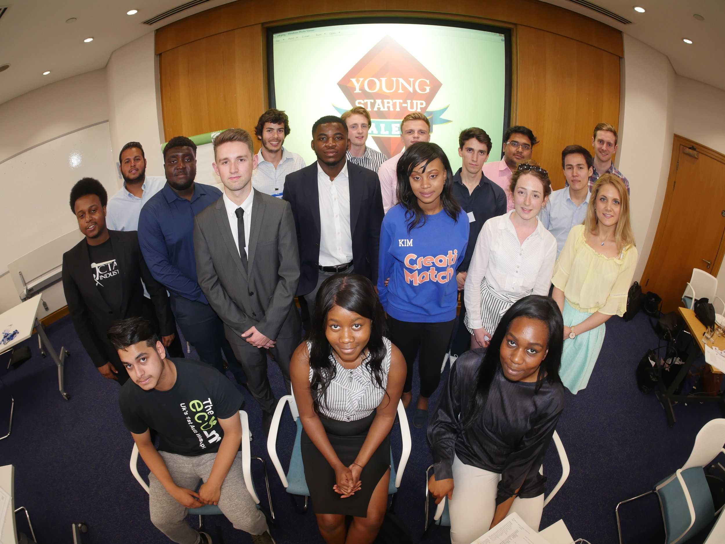 YST London semi finalists at the speednetworking event - NatWest offices in Bank