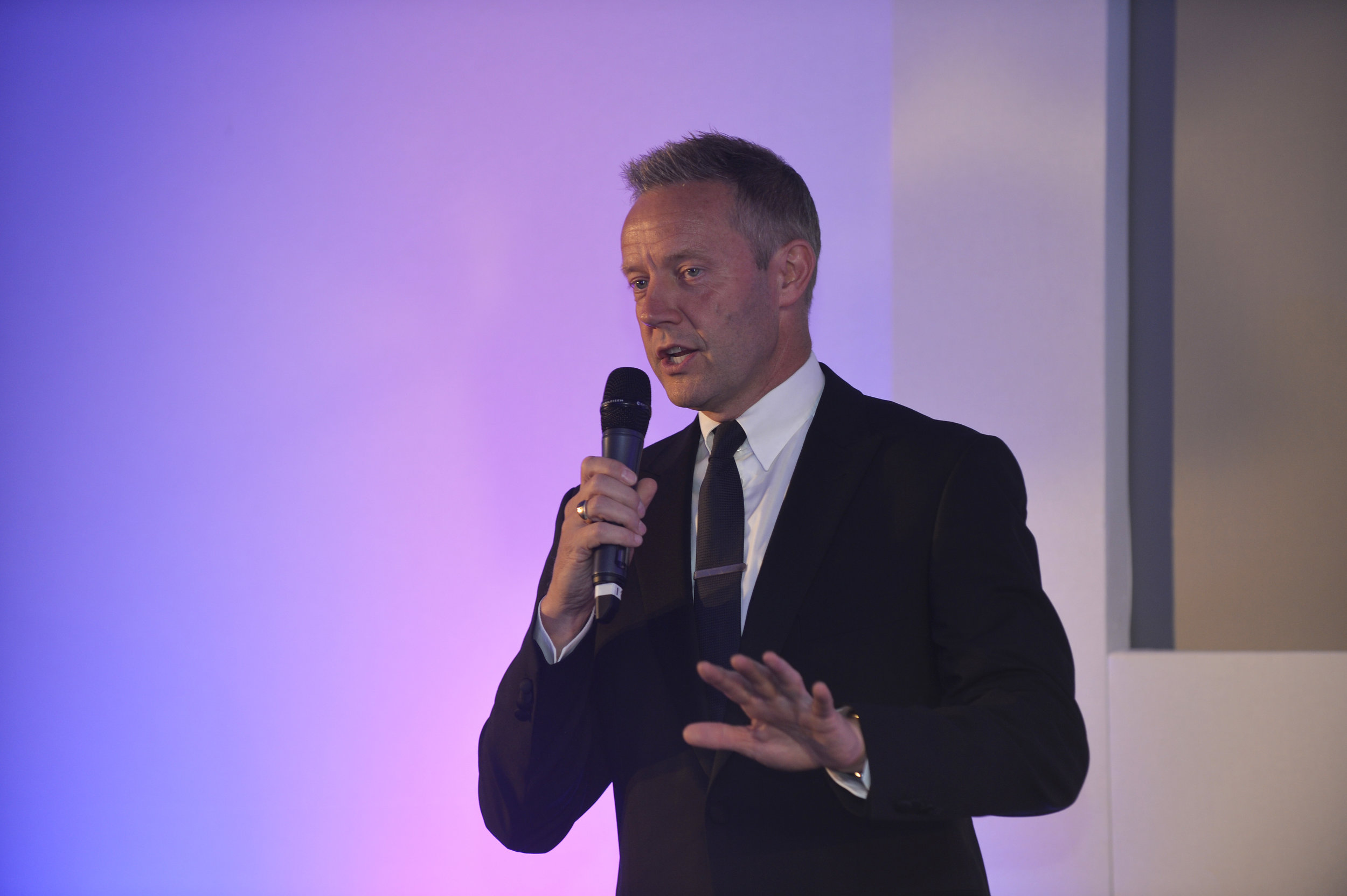 Dary Gayler - NatWest - speaking at the event