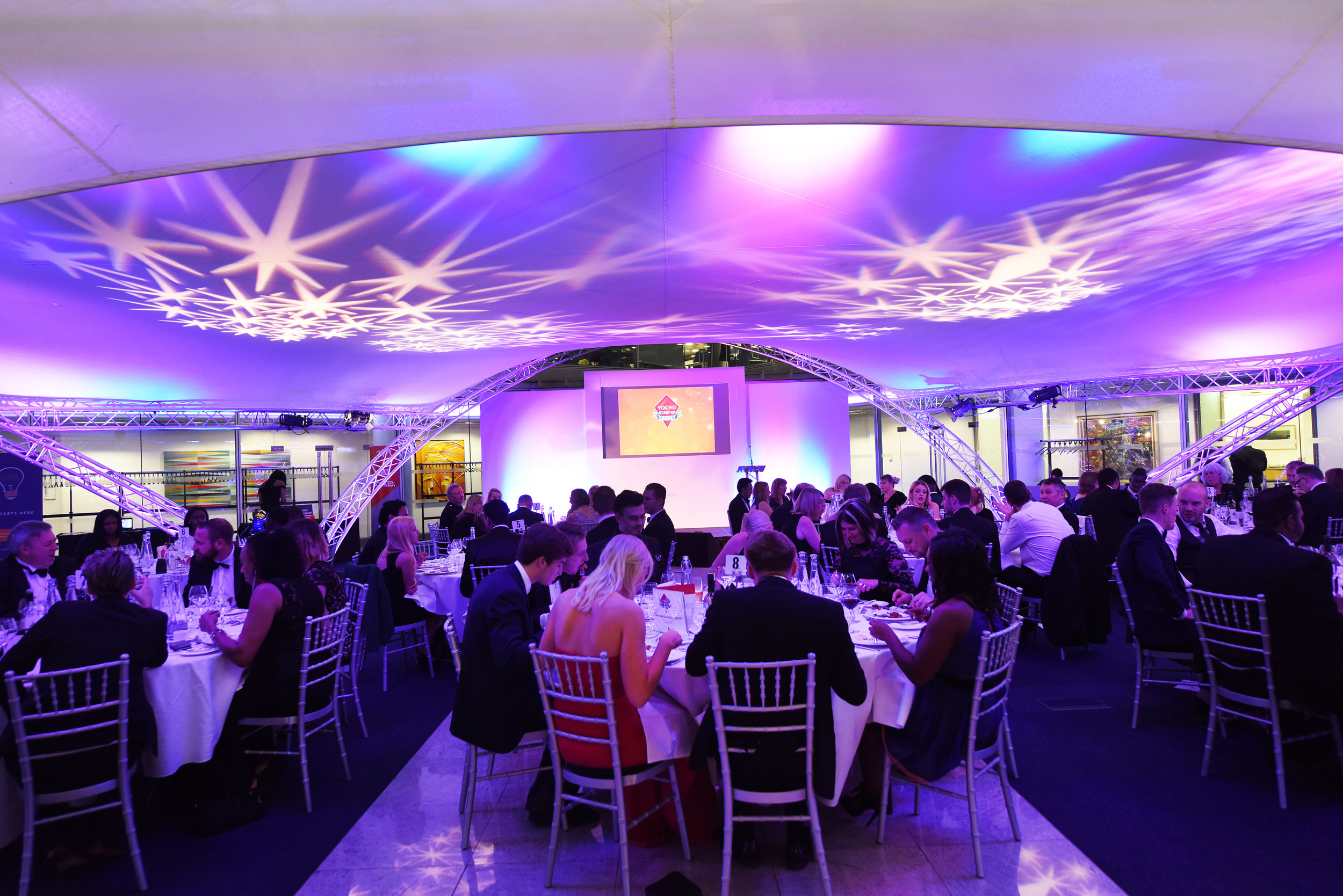 The room at the showcase and Gala dinner - NatWest HQ