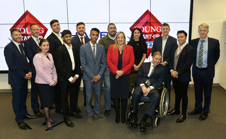 Young Start-up Talent 2020 - Judges, finalists and supporters at Thales UK
