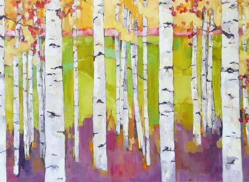 "Summer Birch Study, oil on canvas, 30x48"" SOLD"
