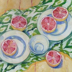 "Breakfast, oil on canvas, 24x24"" SOLD"