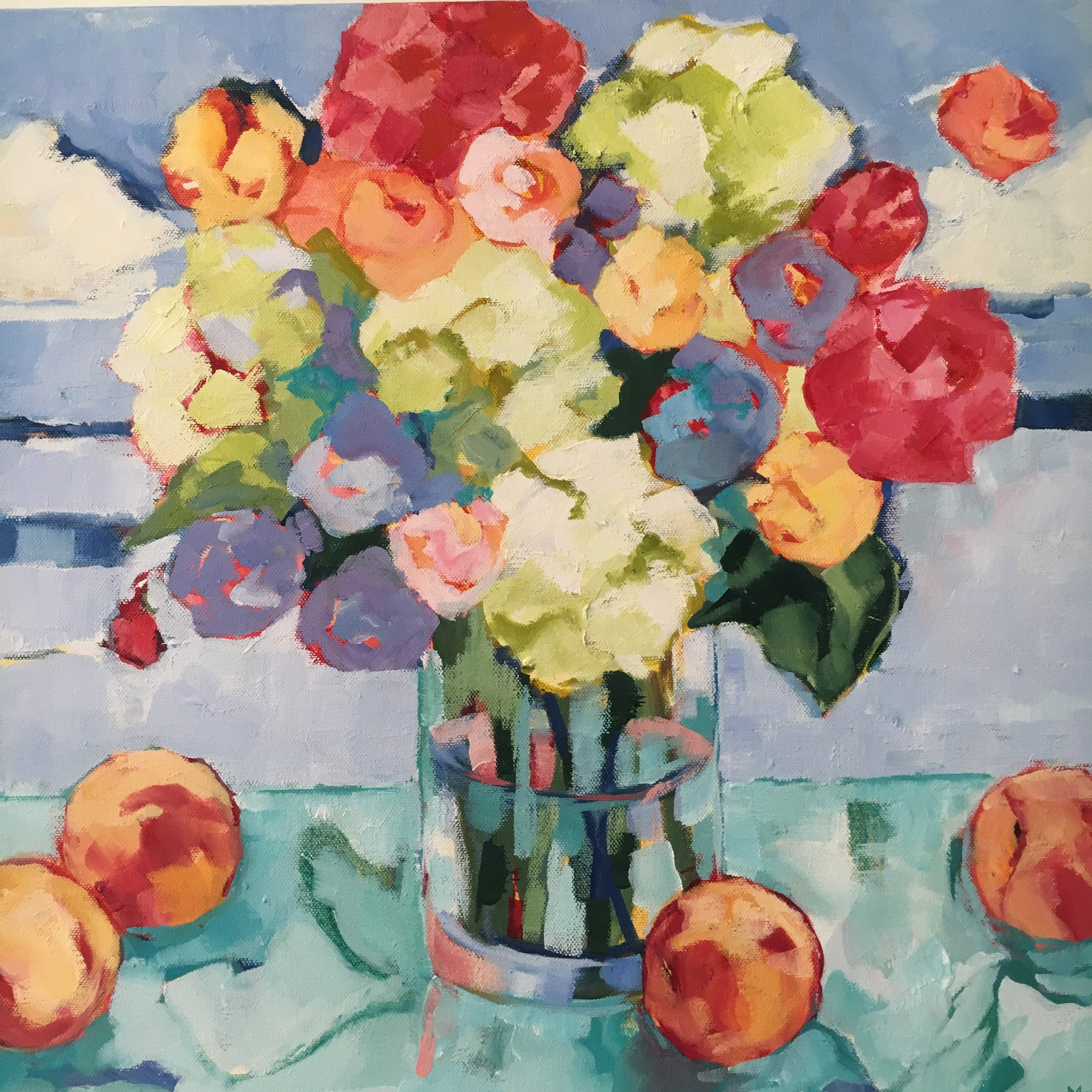 """Summer Still Life, oil on canvas, 18x24"""" SOLD"""