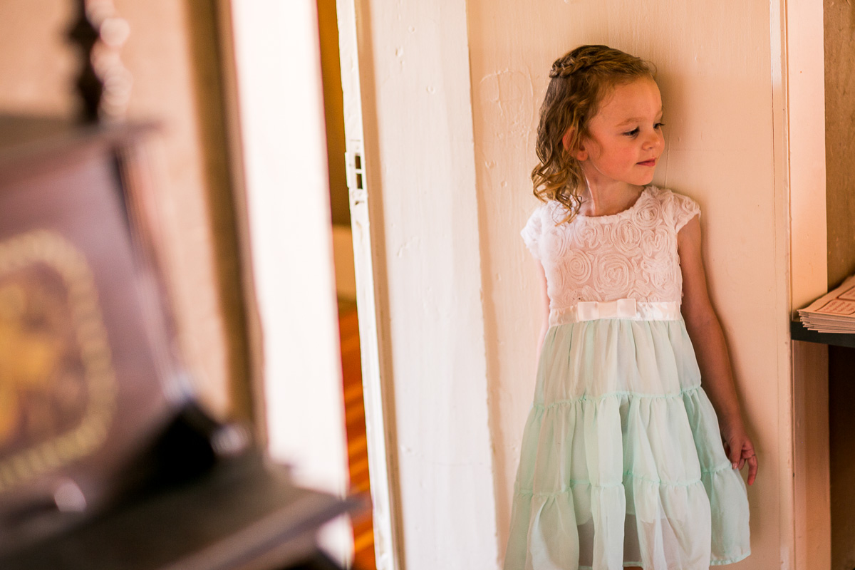 Everyone is ready for a big day of wedding celebrations, even this little one