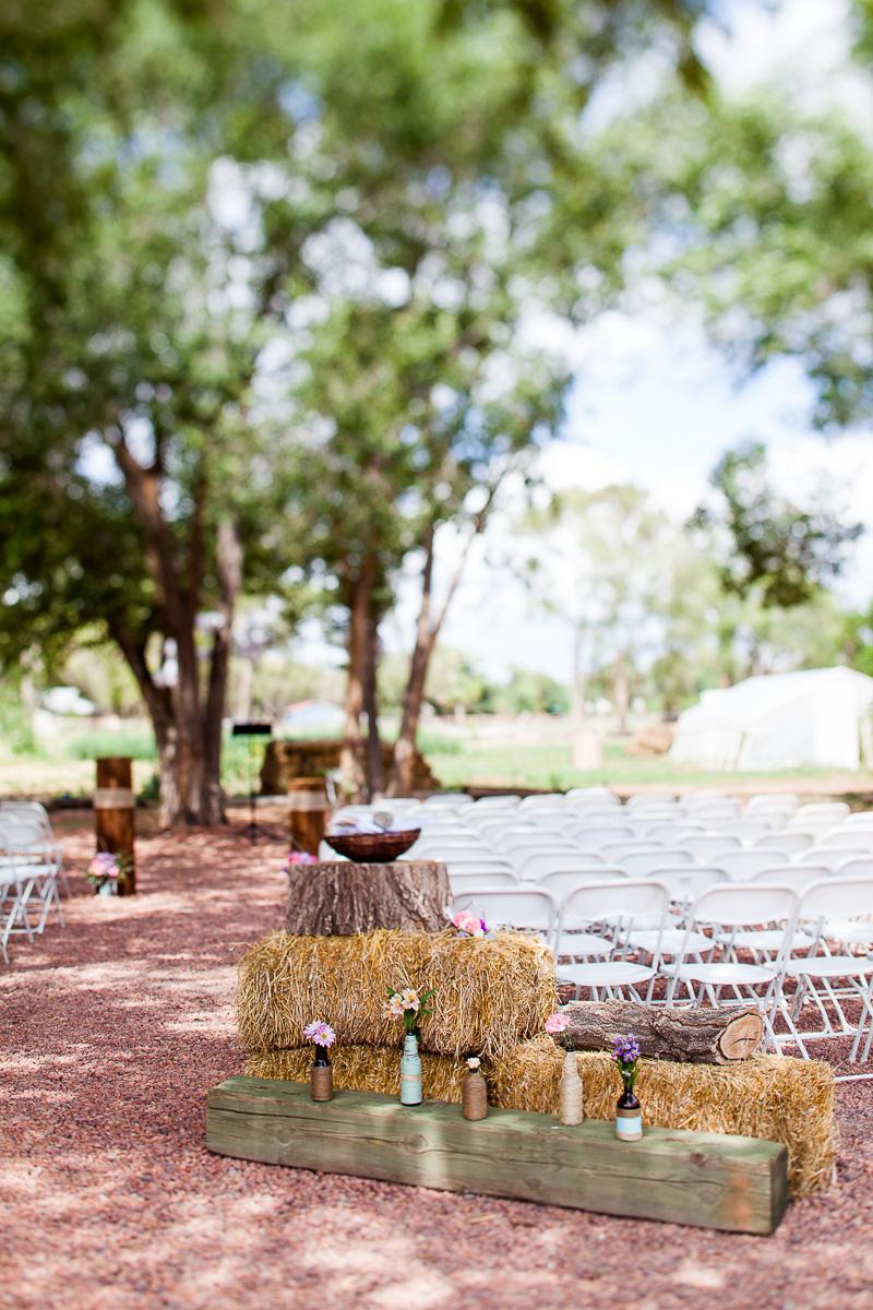 Rustic, outdoor, flower pot, hay bale inspired decor