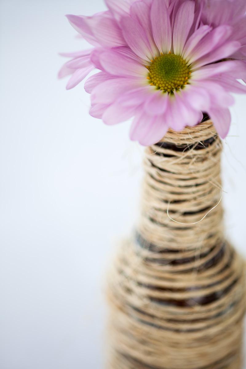 Rustic, twine, flower decor