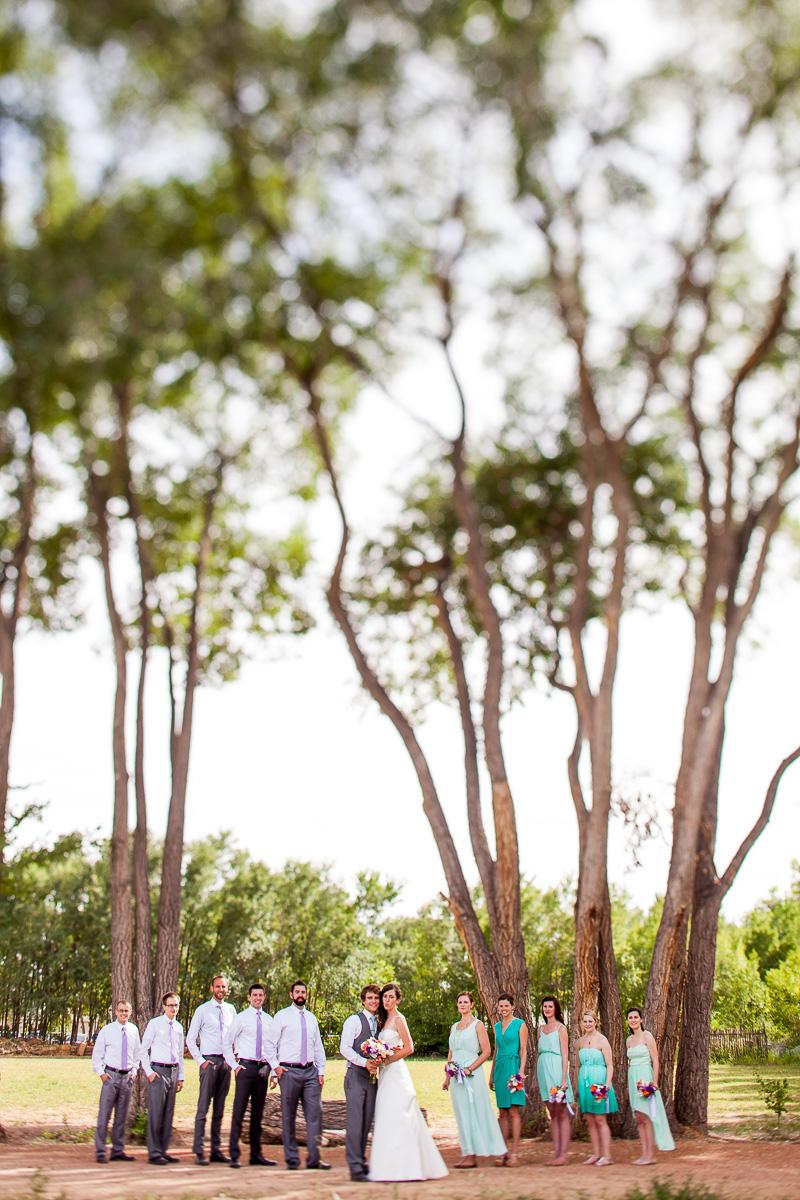 wedding formals, rustic, trees