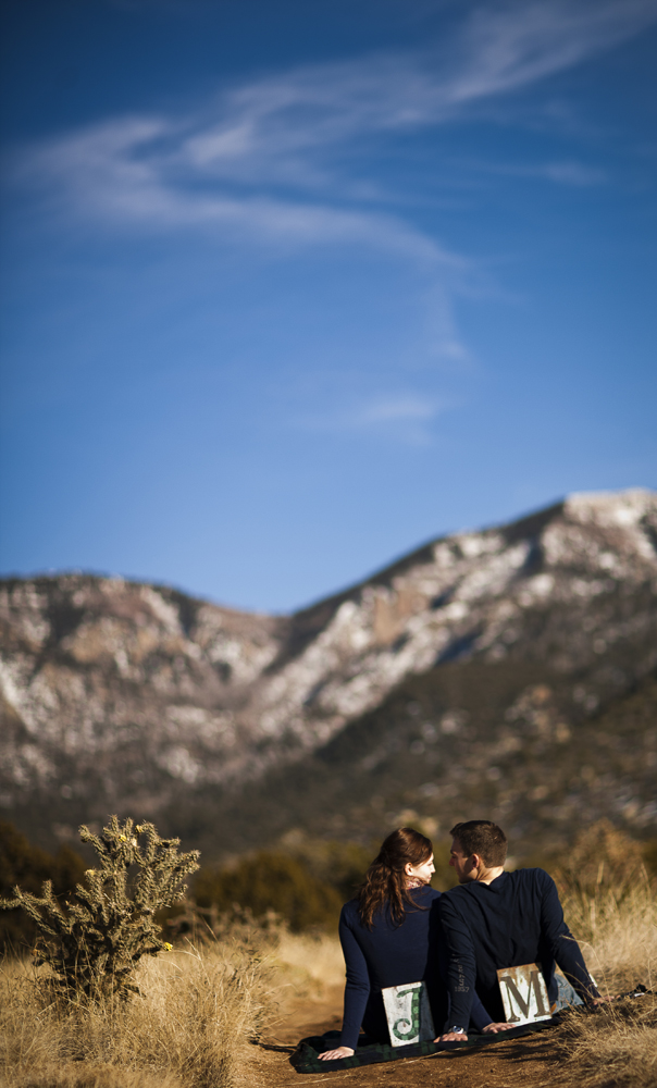 Nothing better than an engagement shoot with mountains as the backdrop