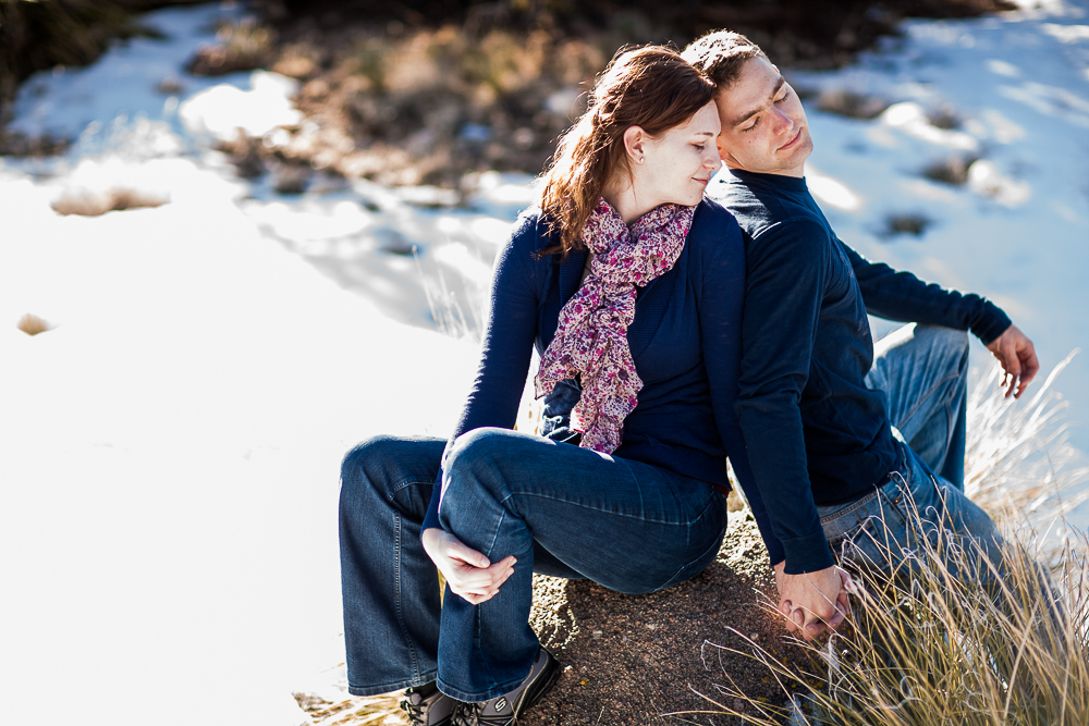 A romantic engagement session moment with Michael & Jessica