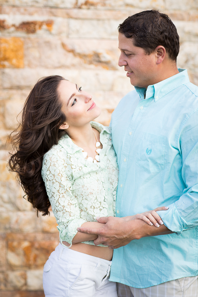 JC & Gaby loving engagement shot