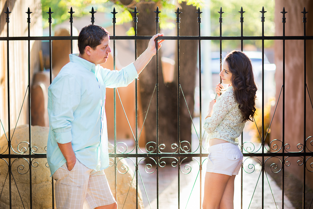 Sweet gazes between JC & Gaby at their engagement shoot in New Mexico