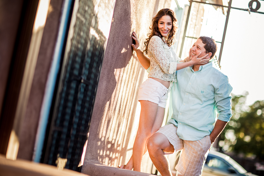 JC & Gaby looking very cute and smiley at their engagement shoot
