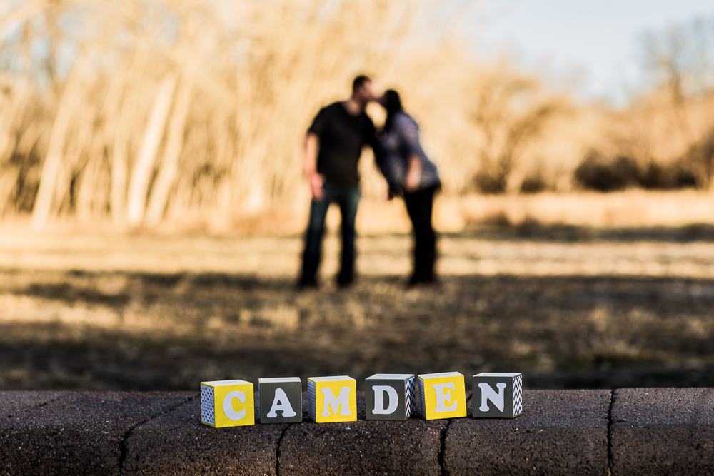 Announcing Camden in this sweet maternity photo session, what a cute baby name!