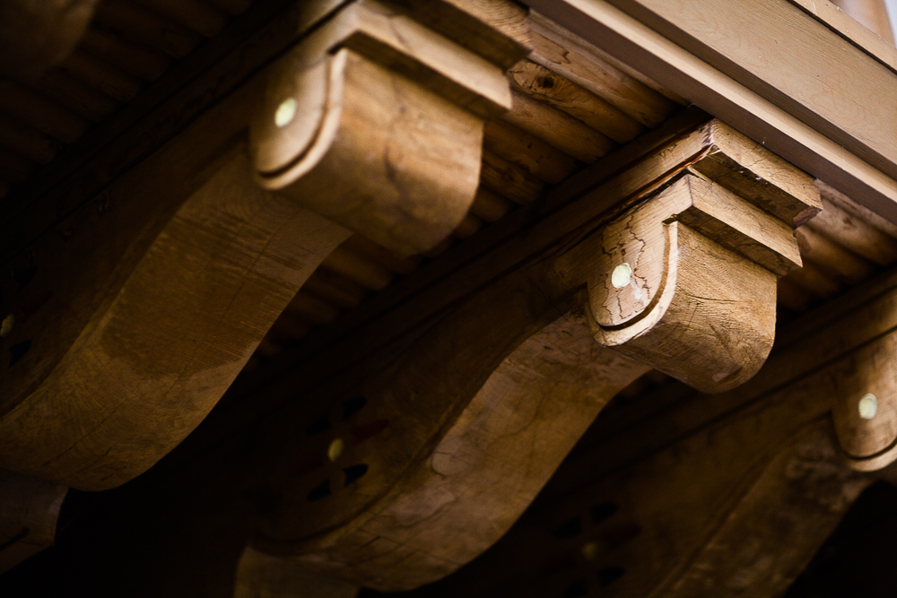 Beautiful wooden accents in the chapel