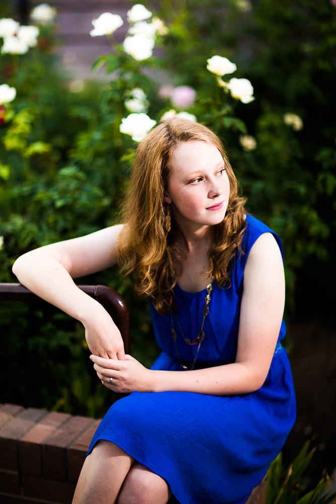 A beautiful, natural shot of Sarah in her senior portrait