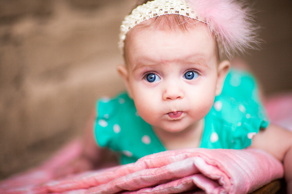 Cute lips and beautiful eyes, baby newborn session