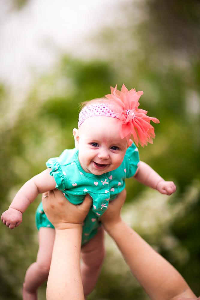 Newborn soaring through the air!