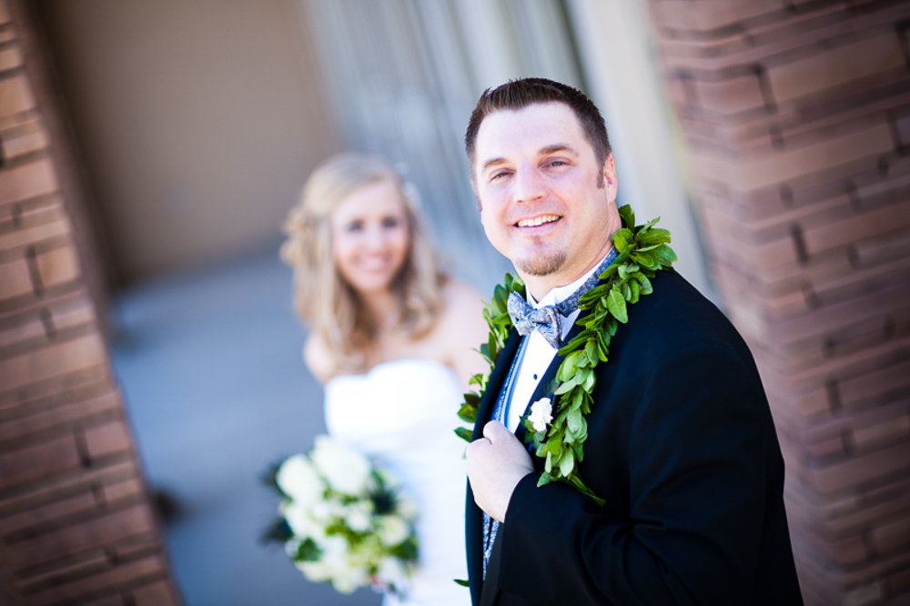 Brooks and Ginger after the wedding ceremony