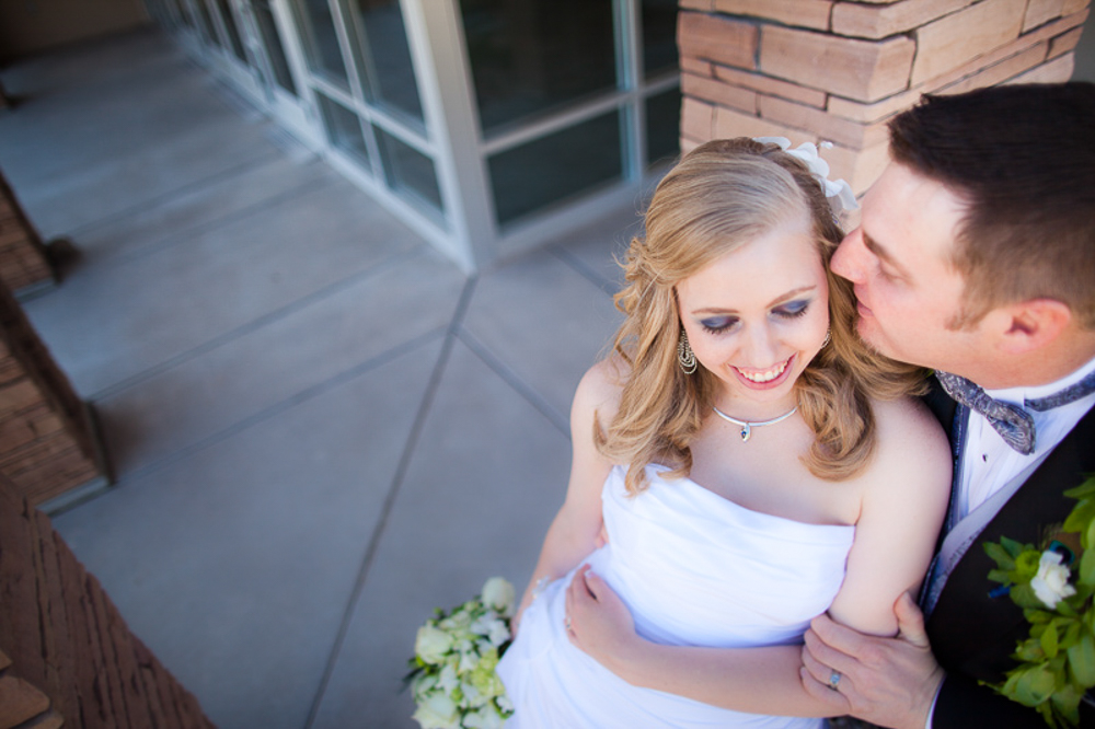 Brooks & Ginger in love after their wedding ceremony