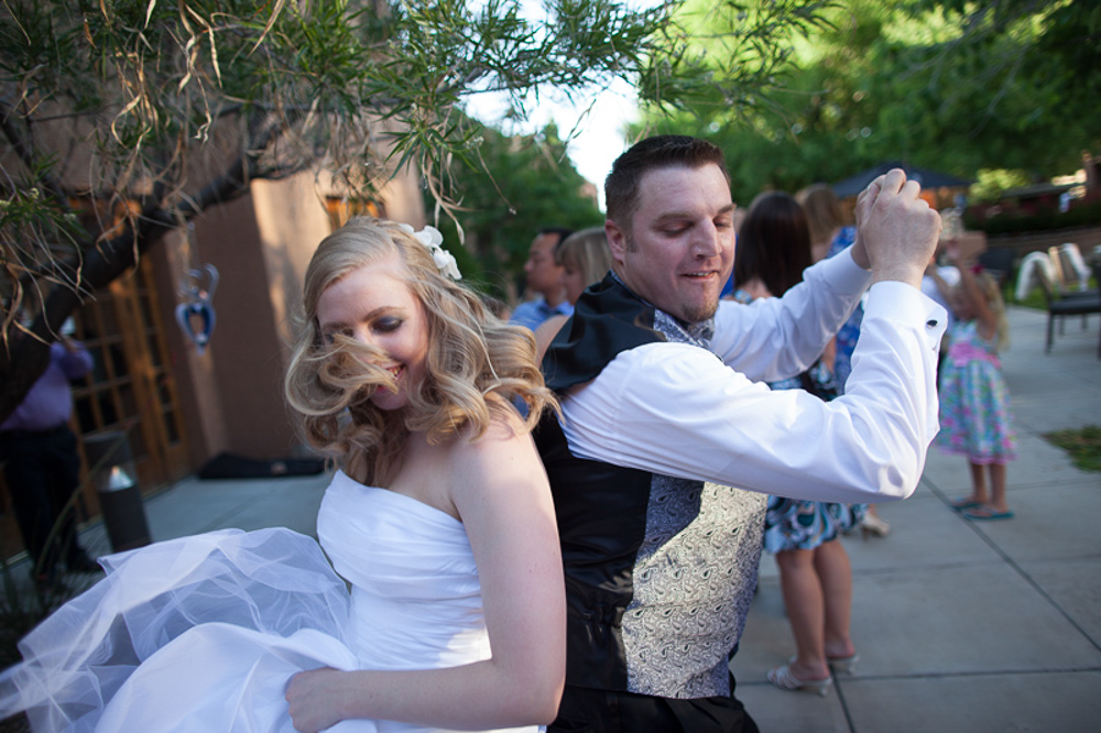 Brooks & Ginger dancing at their wedding reception