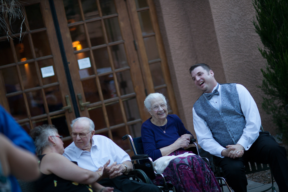 Brooks hanging out with the older folks