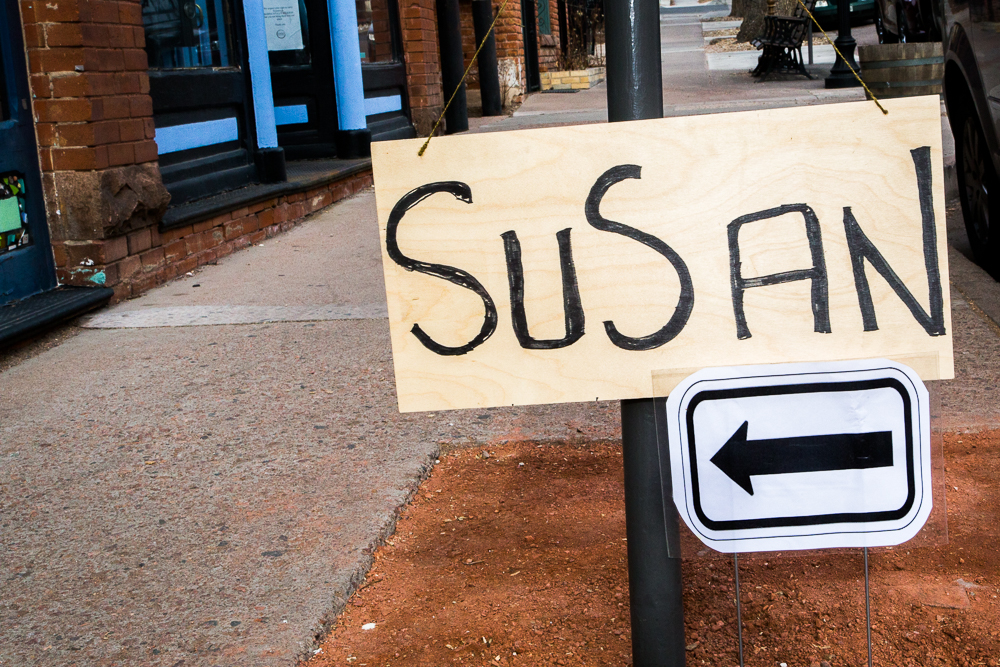 Susan's welcome sign into The Loft Collective, Old Colorado City