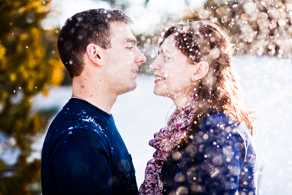 A little bit of snowfall made for GORGEOUS photos in this session.