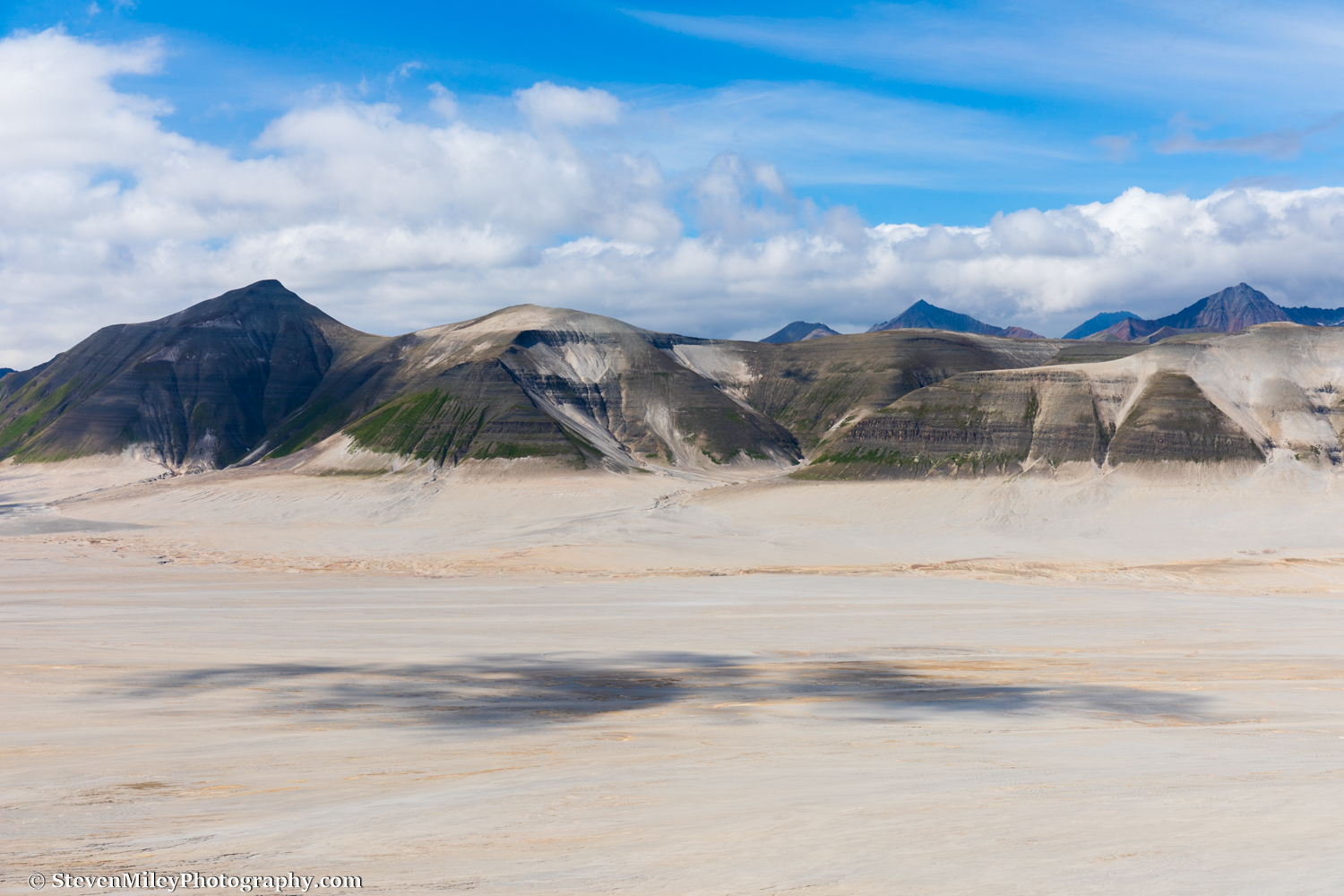 The Buttress Range along the western edge of the Valley of 10,000 Smokes in Katmai National Park, viewed from the side of Baked Mountain.