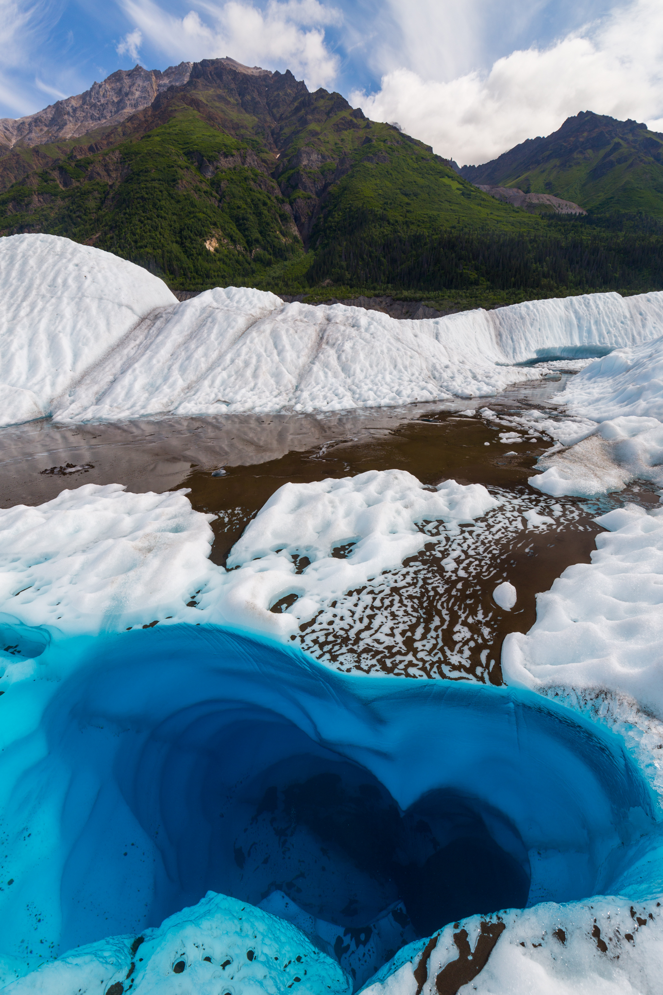 Blue Heart Of Root Glacier