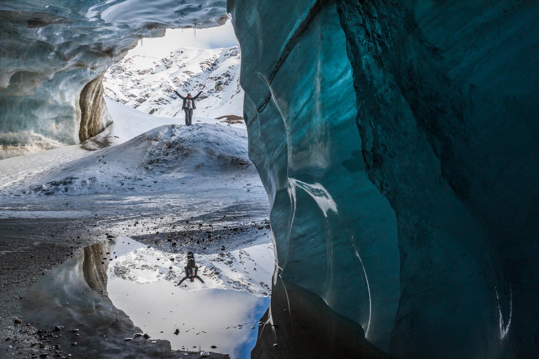 Castner Glacier Ice Cave Reflection