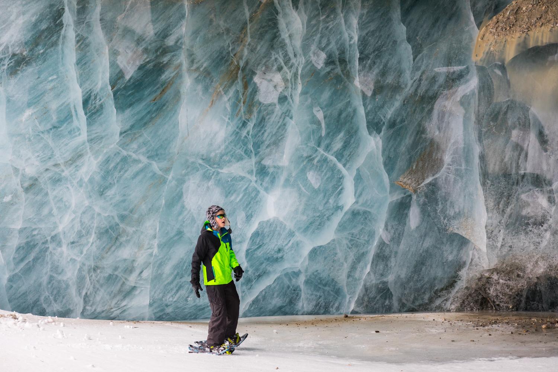 Kid In Castner Glacier Ice Cave
