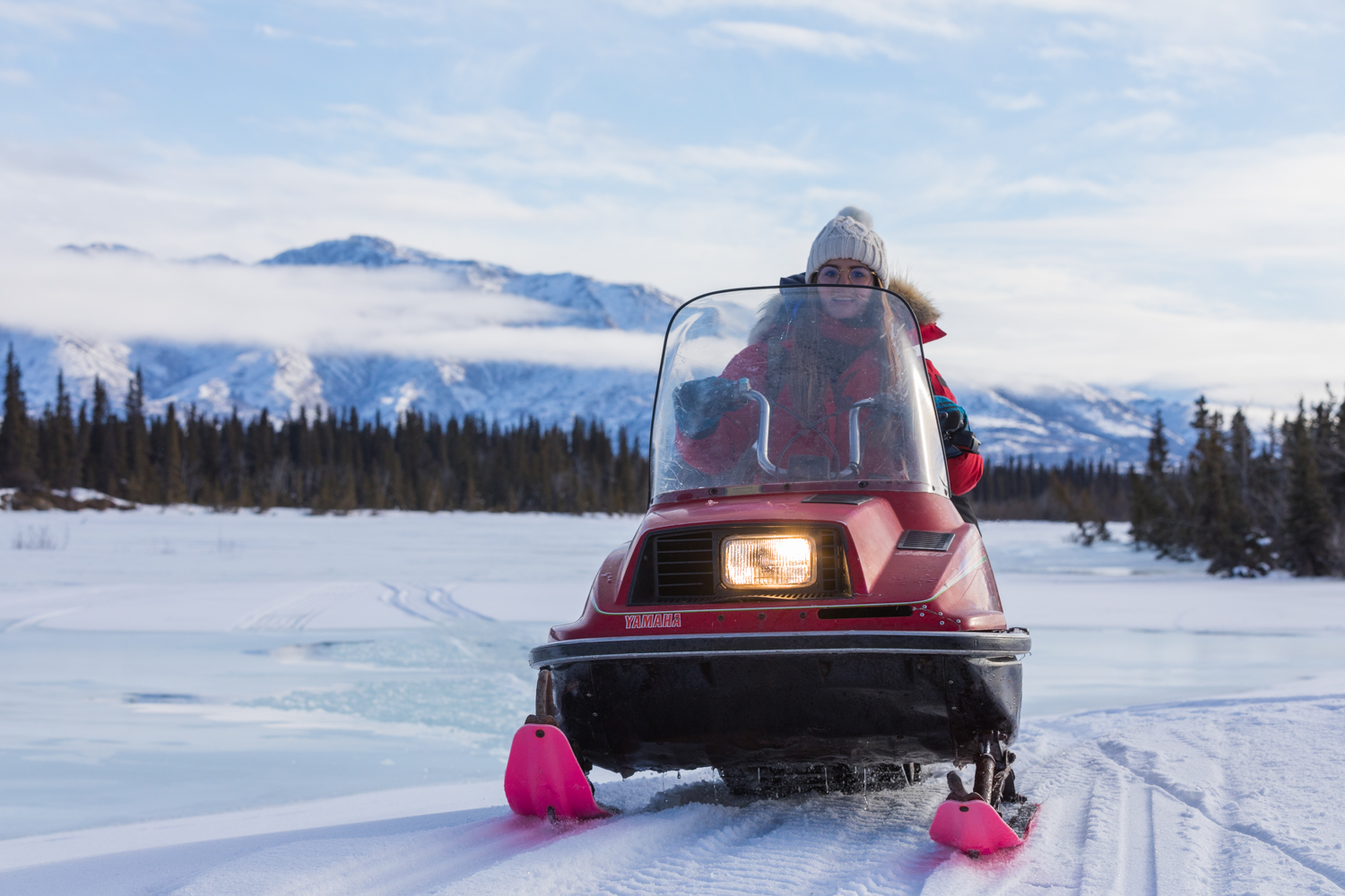 Snowmachining Over Jarvis Creek