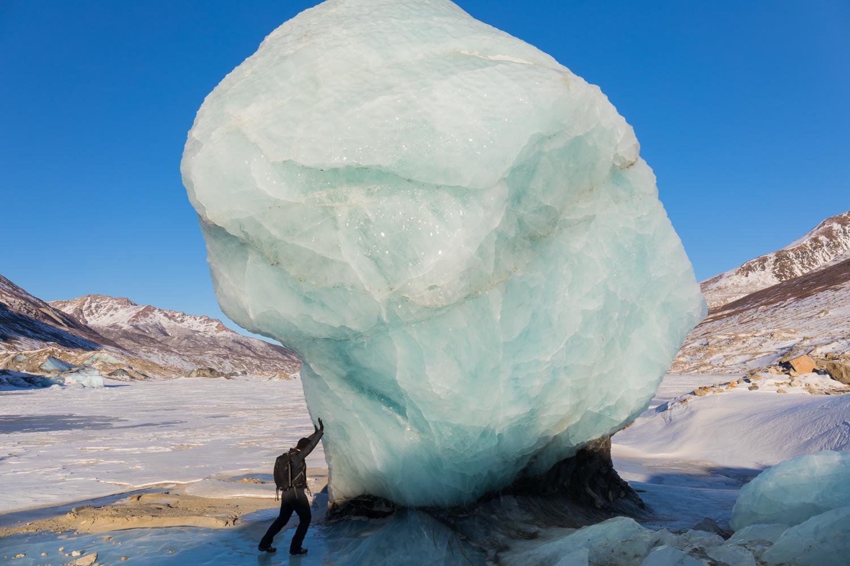 Black Rapids Glacier Giant Ice Scultpture