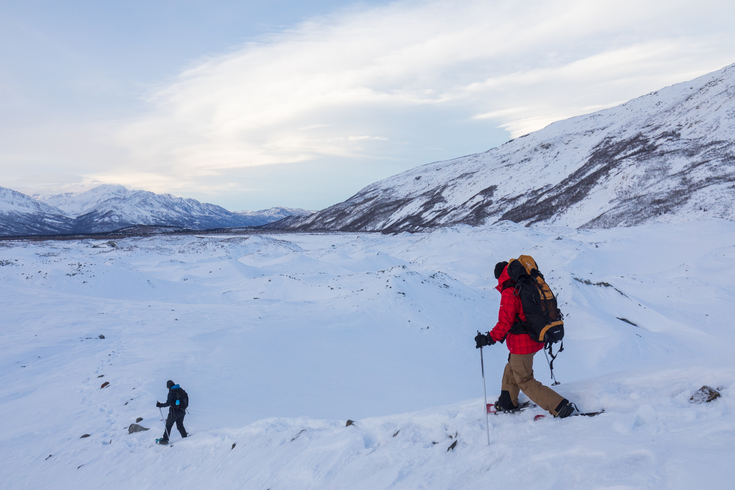 Canwell Glacier Snowshoers