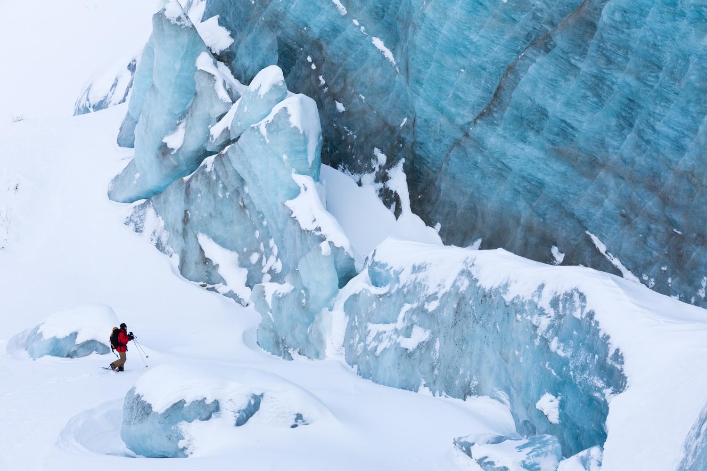 Canwell Glacier Crumbling Ice Wall
