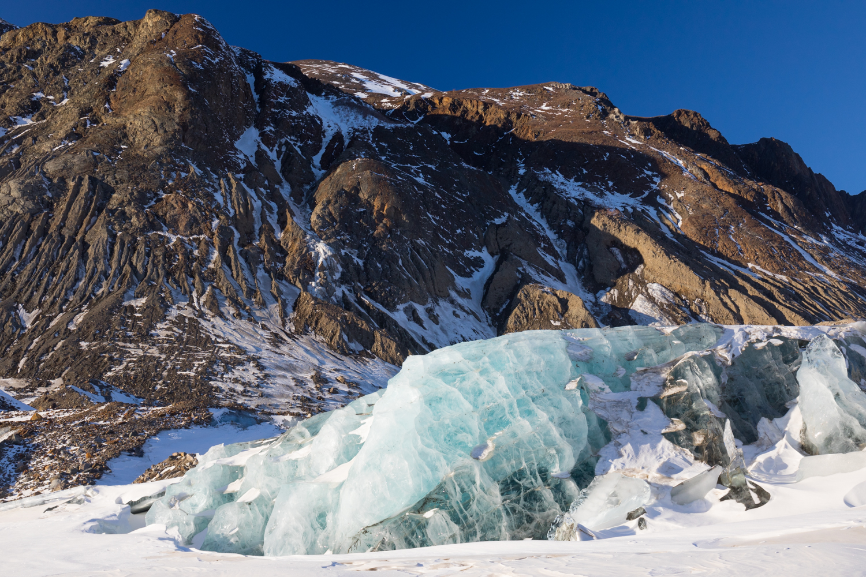 Black Rapids Glacier In WInter