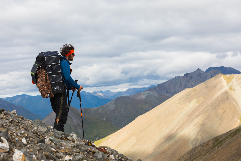 Pausing At A Mountain Pass - Alaska Range