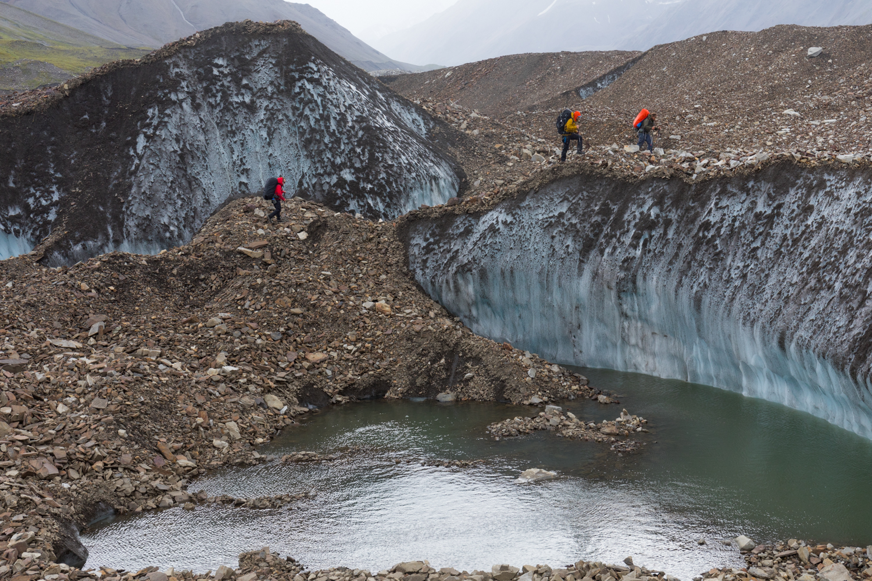 Crossing Hayes Glacier