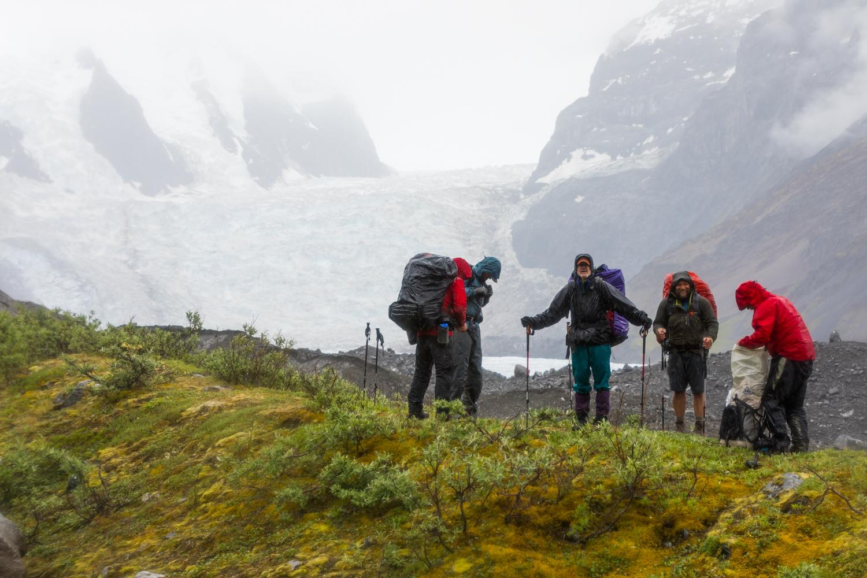 In The Rain Beside Trident Glacier