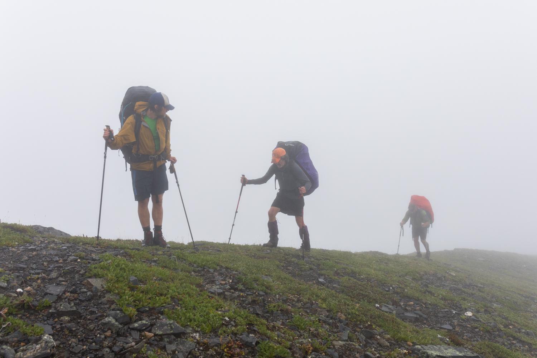 Ascending A Ridge To A Pass - Alaska Range