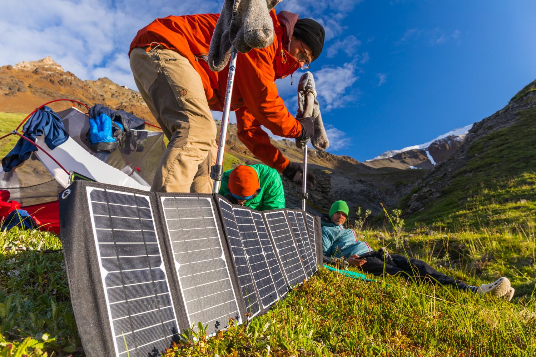 Recharging At Camp - Alaska Range