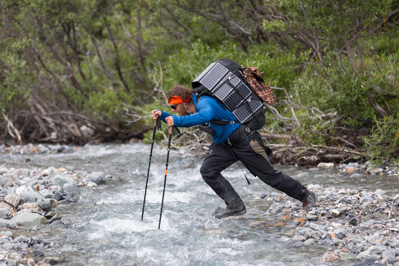 Jumping a Stream - Alaska Range