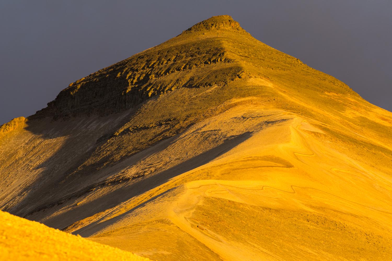 Baked Mountain At Sunset - Katmai NP