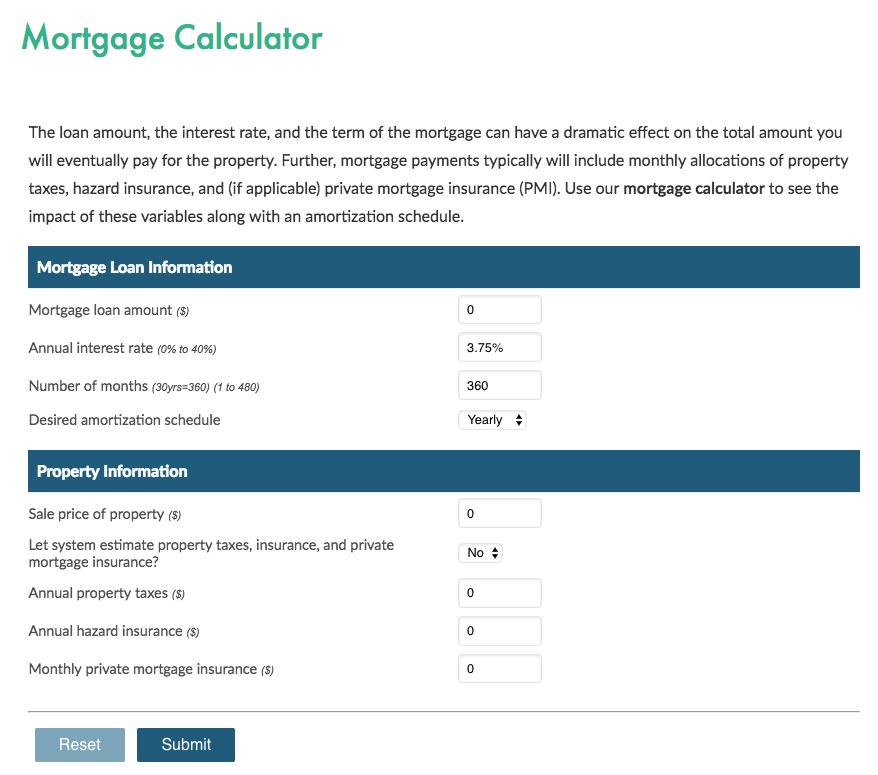 Previous calculator input design