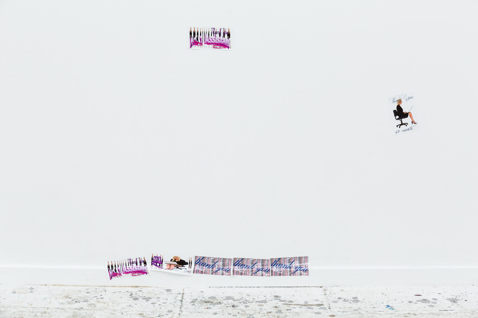 Number One Assistant , (2018), stickers, installation view,  Number One Assistant,  Kyra's, Sydney. Photo: Document Photography