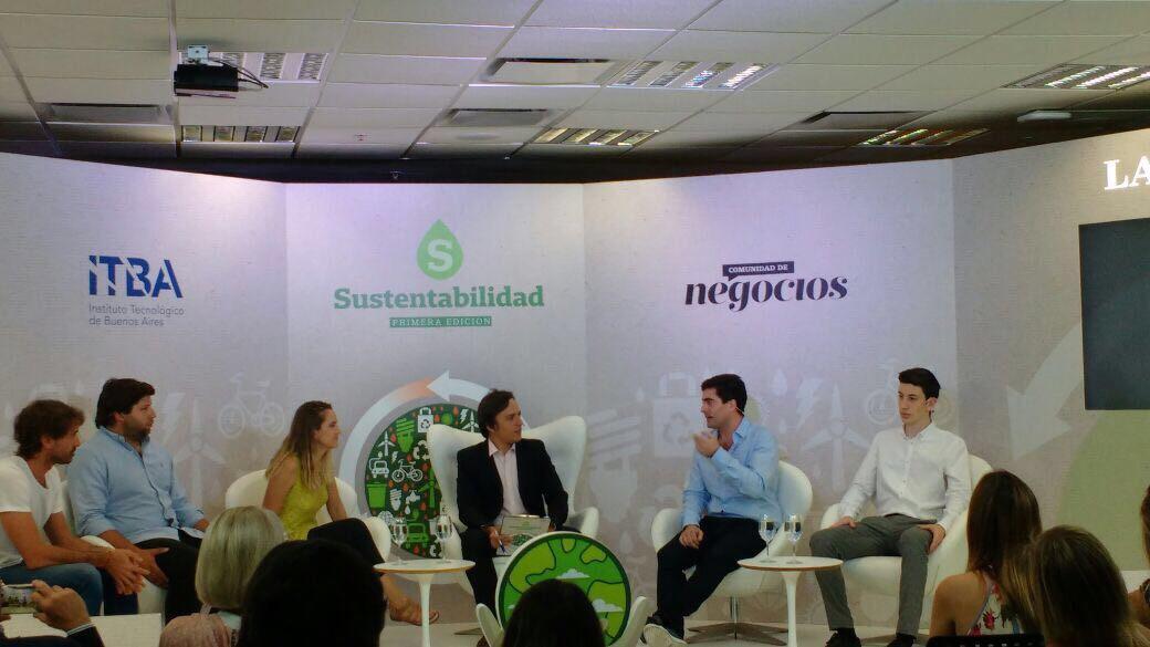 LA NACION - panel sustentabilidad - rocio daravi - 1.JPG