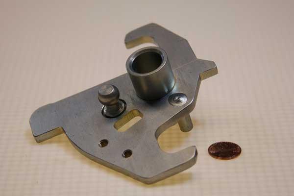 Sandblasted and plated lock
