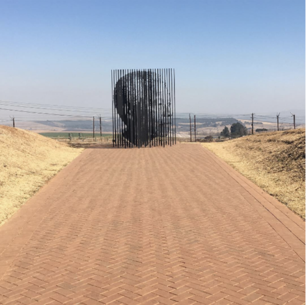 The monument commemorating Nelson Mandela's capture site in the South African province of KwaZulu-Natal.