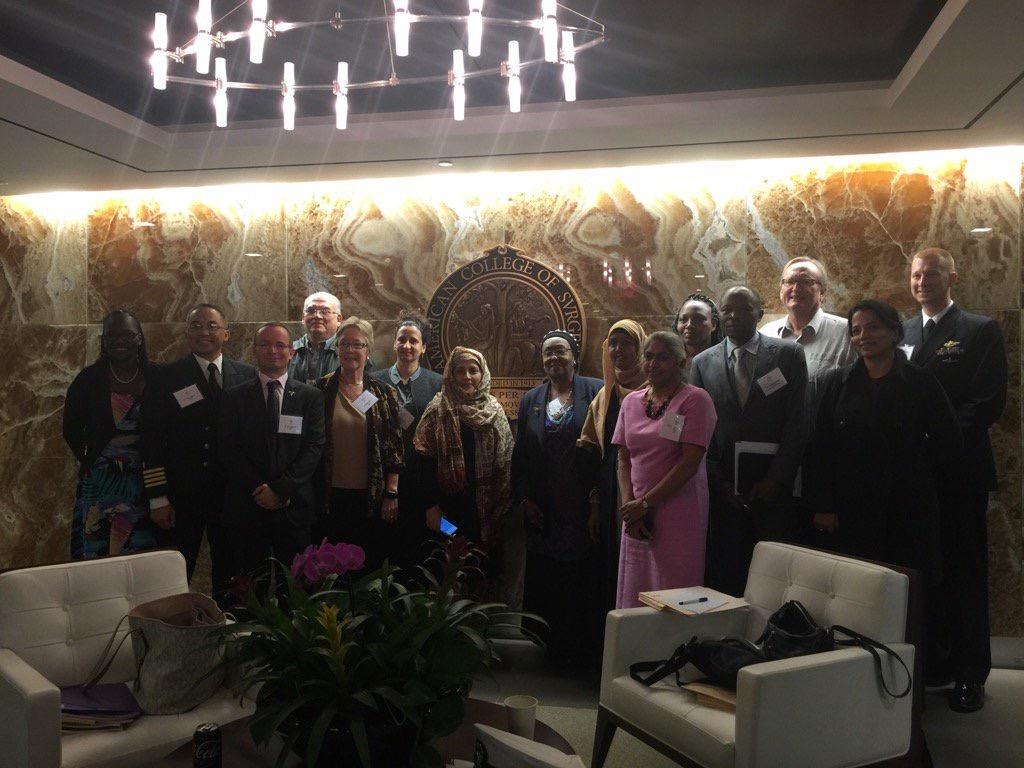 Left to Right: Dr. Bertille Ki (Burkina Faso), Dr. Romeo Ignacio (USA), Dr. Jonathan Lord (United Kingdom), Dr. Luis Zea-Salazar (Ecuador), Dr. Diana Farmer (USA), Unknown, Prof. Tahmina Banu (Bengladesh), Mrs. Edna Adan Ismail (Somaliland), Dr. Dahir Shukri (Somaliland), Prof. Kokila Lakhoo (United Kingdom), Dr. Zipporah Gathuya (Kenya), Dr. Luc Malemo (Democratic Republic of Congo), Prof. William Harkness (United Kingdom), Dr. Rashmi Kumar (Kenya), Dr. Jason B. Brill (USA)