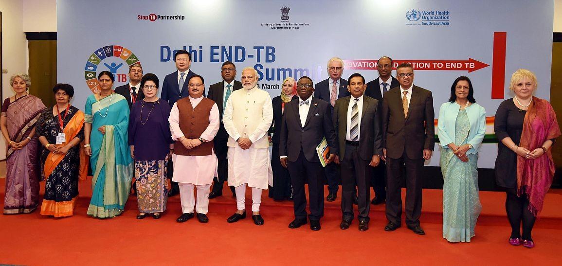 Delhi End TB Summit with Prime Minister Modi, 13 March 2018 in New Delhi